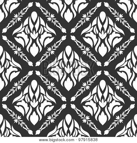 Palatial Seamless Pattern On A Gray Background