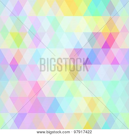 Abstract hipsters seamless pattern with bright colored rhombus. Geometric background rainbow pastel