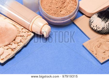 Set Of Makeup Products To Even Out Skin Tone And Complexion