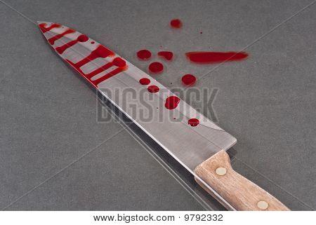 Bloody Kitchen Knife