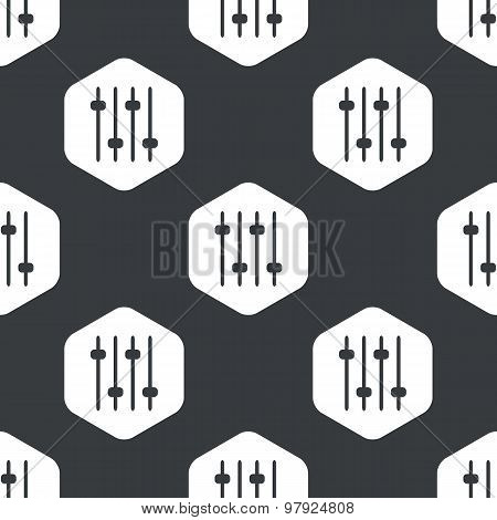 Black hexagon faders pattern