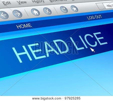 Head Lice Concept.