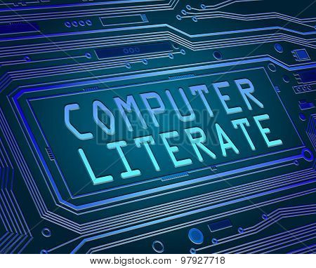Computer Literate Concept.