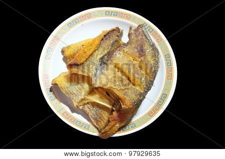 Deep fried Snake Skin Gourami fish, Thai food