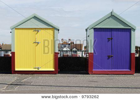 Beach Huts At Hove. Brighton. UK