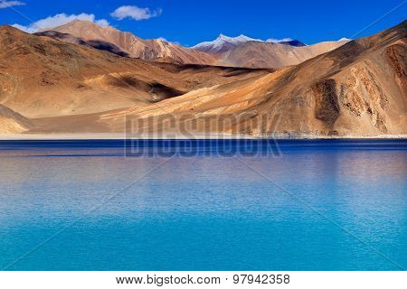 Mountains,pangong Tso (lake),leh,ladakh,jammu And Kashmir,india
