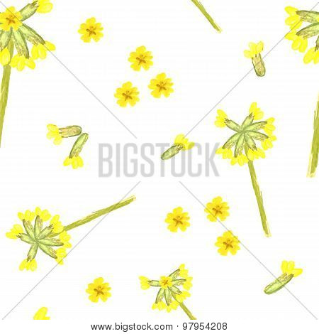 Spring Floral Seamless Pattern With Cowslip