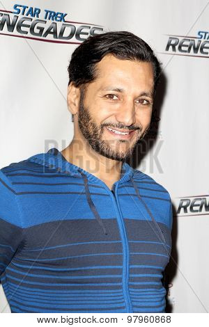 LOS ANGELES, CA - AUGUST 1: Cas Anvar arrives at the premiere of Star Trek: Renegades at the Crest Theatre on August 1, 2015 in Los Angeles, CA.