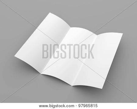 Leaflet Blank Trifold White Paper Brochure