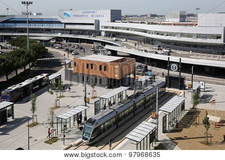 Toulouse International Airport Terminal With Tram Stop