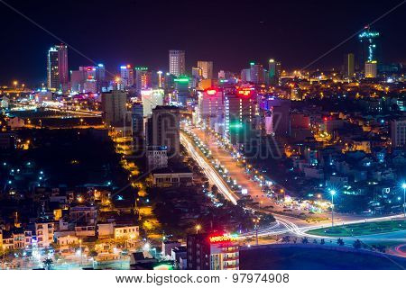 Danang city at night