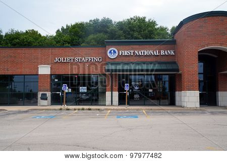 Joliet Staffing and First National Bank