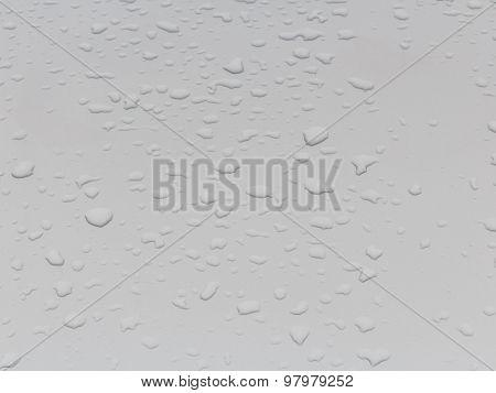 Rain Drops On The Car Roof