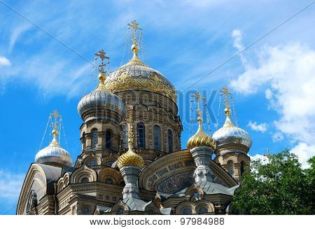 St. Petersburg, Lieutenant Schmidt Embankment 27, Compound Optina, the cathedral, close-up dome poster