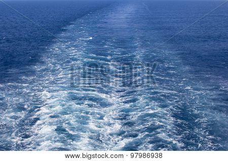 Wake Caused By Big Ship