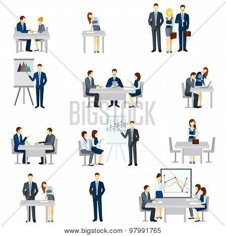 Business Coaching Icons Set