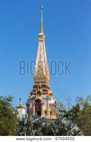Spire the Wat Chalong Buddhist temple in Chalong, Phuket, Thailand