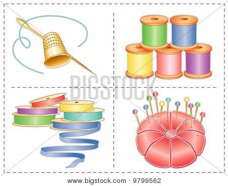 Sewing Accessories, Pastels