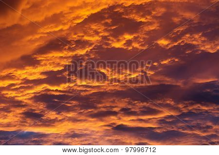 Sunset With Clouds.