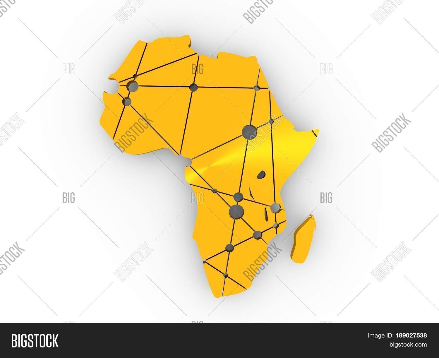 Low Poly Map Africa. Image & Photo (Free Trial) | Bigstock