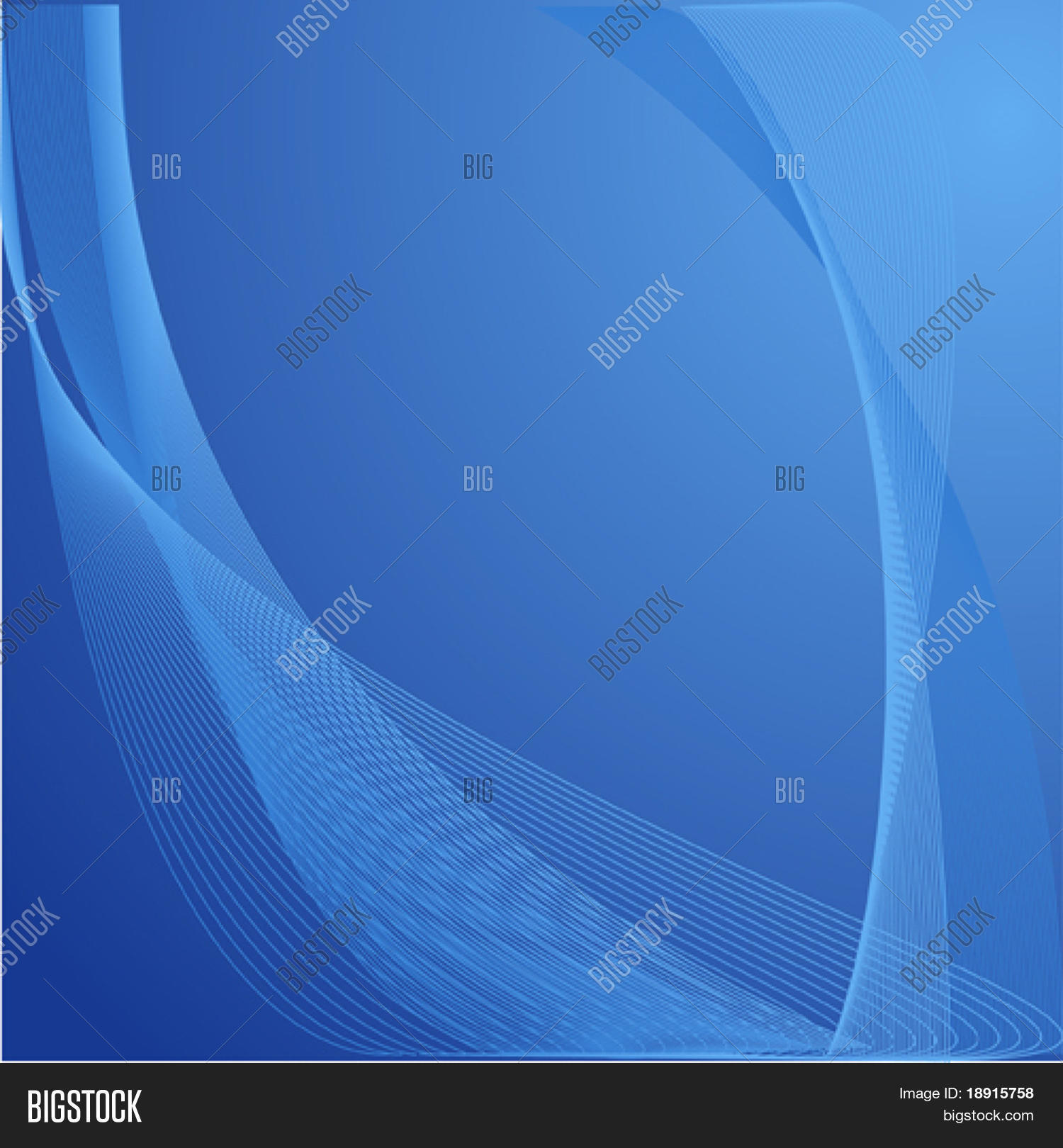 Blue Wavy Organic Vector Photo Free Trial Bigstock