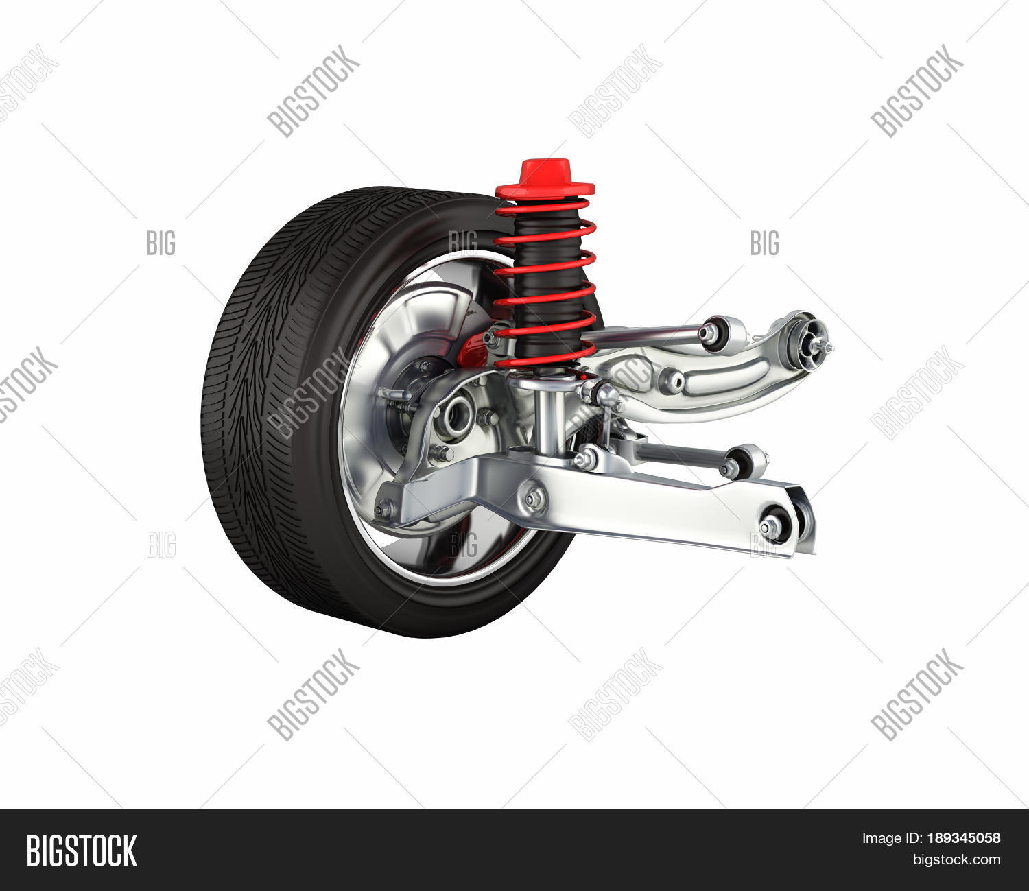 suspension car wheel without shadow image photo bigstock. Black Bedroom Furniture Sets. Home Design Ideas