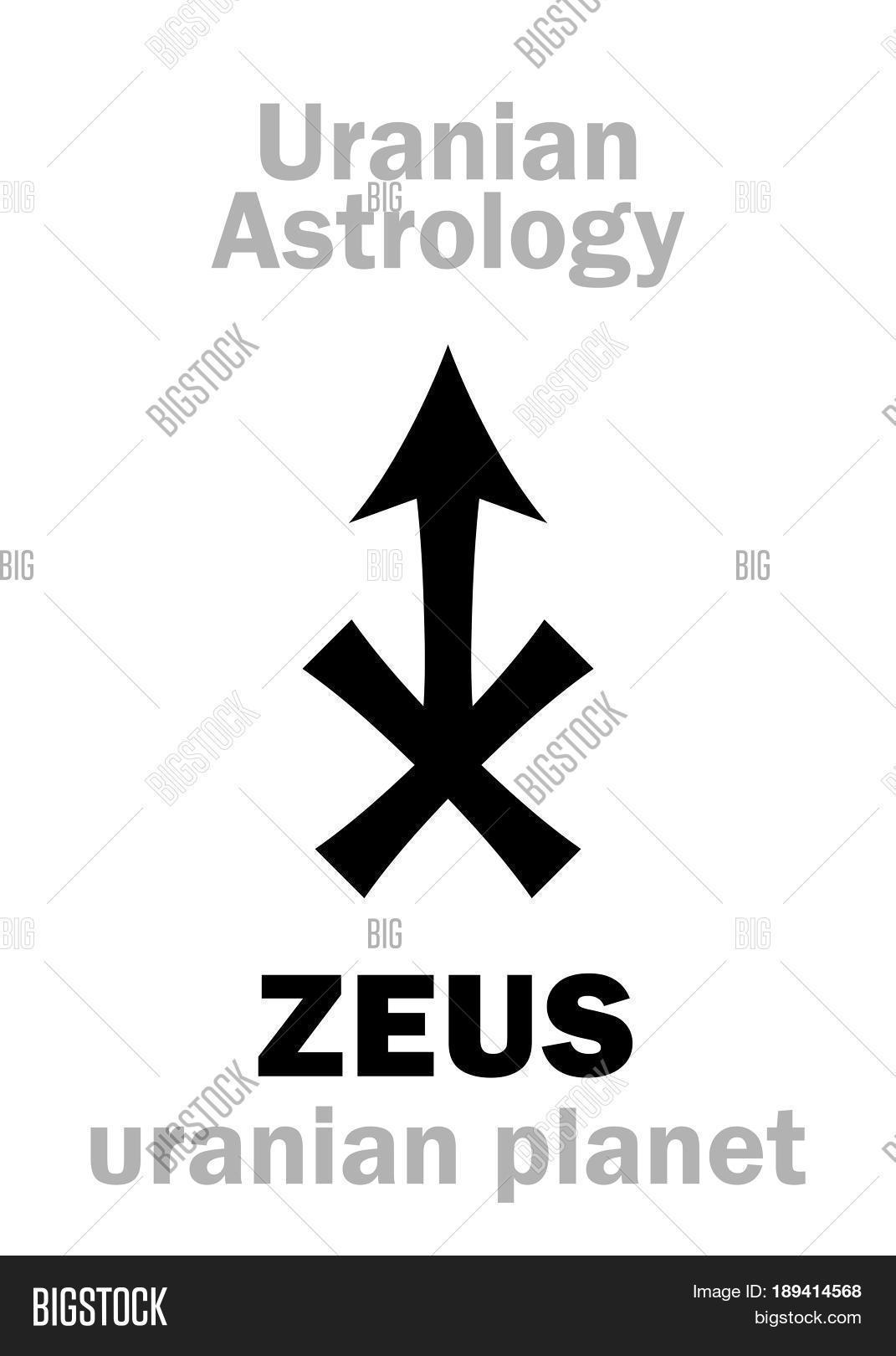 Astrology alphabet zeus uranian vector photo bigstock astrology alphabet zeus uranian planet trans neptunian point hieroglyphics character buycottarizona Images