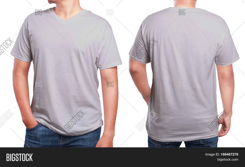 Grey T Shirt Mock Image Photo Free Trial Bigstock