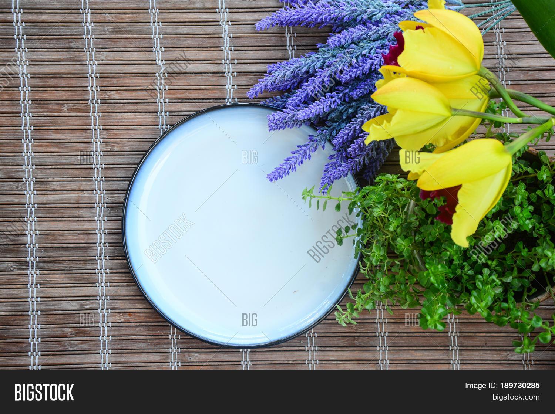 White Ceramic Plate Image Photo Free Trial Bigstock