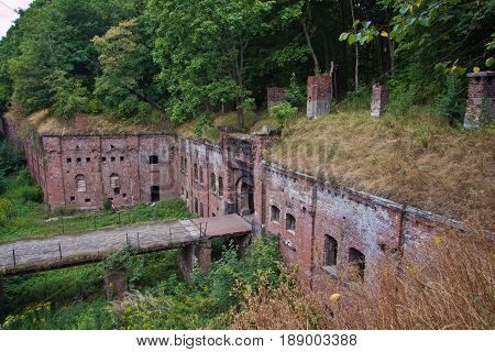 Top view to abandoned Prussian fort