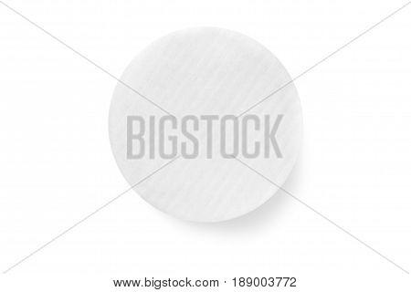 Wadded pads photo on white background isolation