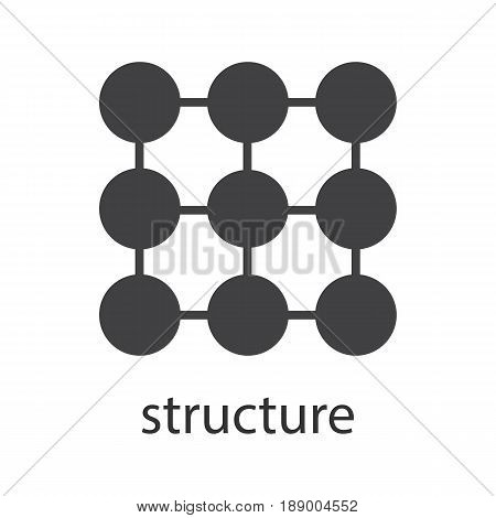Structure symbol glyph icon. Silhouette symbol. Composition abstract metaphor. Negative space. Vector isolated illustration