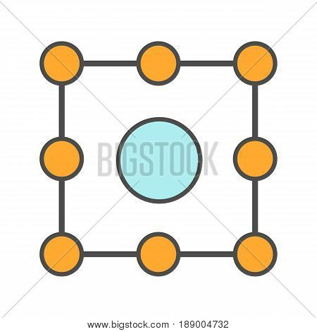 Isolation symbol color icon. Insulation abstract metaphor. Isolated vector illustration