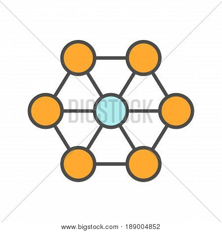Connections color icon. Interrelation abstract metaphor. Structure. Isolated vector illustration