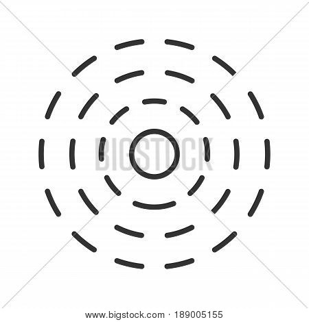 Influence linear icon. Thin line illustration. Contour symbol. Vector isolated outline drawing