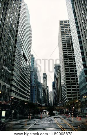 Skyscrapers and buildings in downtown Chicago, Illinois, USA during the day