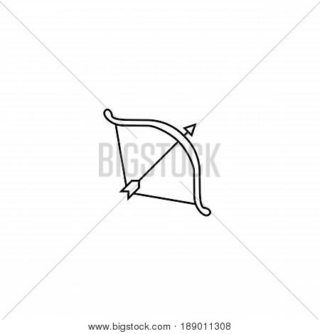 Cupid bow line icon, Valentine's day, love concept, vector graphics, a linear pattern on a white background, eps 10.