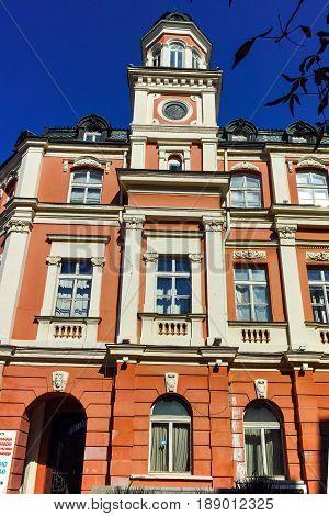 PLEVEN, BULGARIA - 20 SEPTEMBER 2015: Drama Theatre Ivan Radoev in City of Pleven, Bulgaria