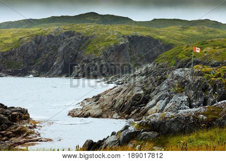 Rugged Rocky Coastal Landscape Newfoundland Canada