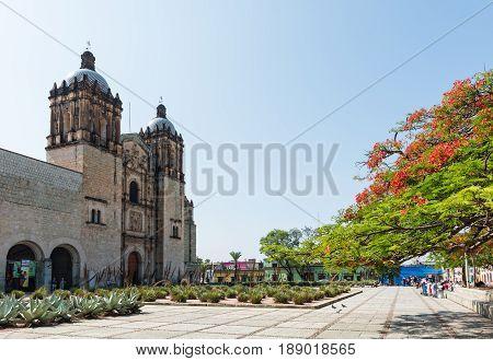 Church of Santo Domingo de Guzman, a Baroque ecclesiastical building complex in Oaxaca, Mexico