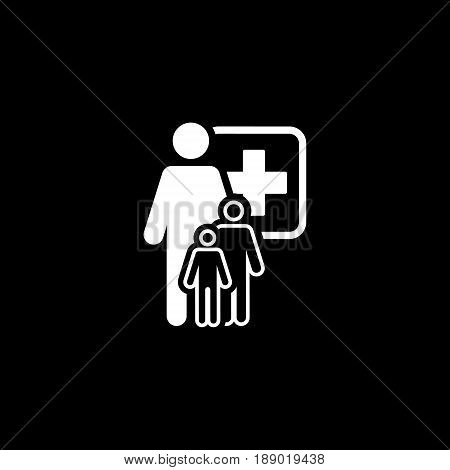 Pediatrics and Medical Services Icon Flat Design. Isolated.