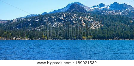 Scenic view of Lake Caples, California