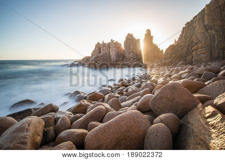 The Pinnacles rock at Cape Woolamai one of the most tourist attraction place in Phillip Island, Melbourne, Australia.