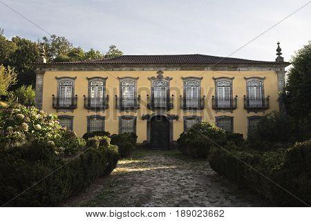 PONTE DA BARCA, PORTUGAL - OCTOBER 8, 2016: Beautiful homestead in a rural property in Ponte da Barca Portugal