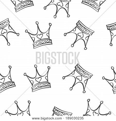 Vector illustration crown pattern style collection stock
