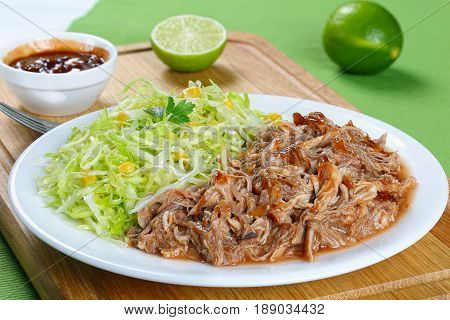 Pulled Meat With Fresh Spring Coleslaw