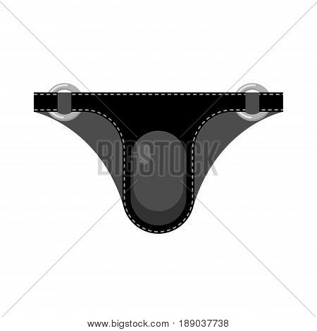 Leather Briefs Isolated. Latex Fetish Clothing. Sexy Toy For Adults