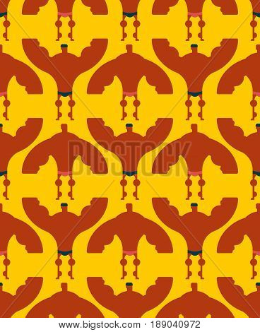 Bodybuilder Seamless Pattern. Championship Of Fitness And Bodybuilding Background. Athletes Ornament