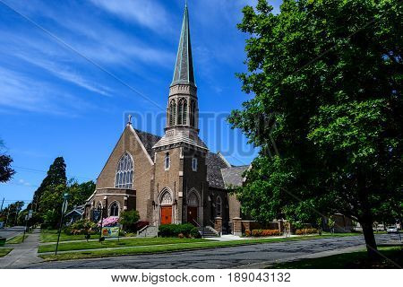 Gothic church located over Bellingham Bay Washington State