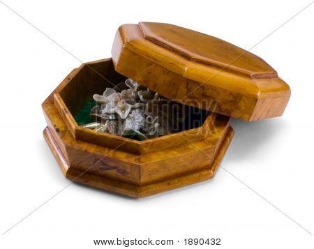 Polygonal Box With Brooch